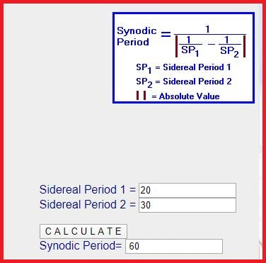synodic cycle